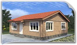 Одноэтажные дома из клееного бруса, проекты и цены